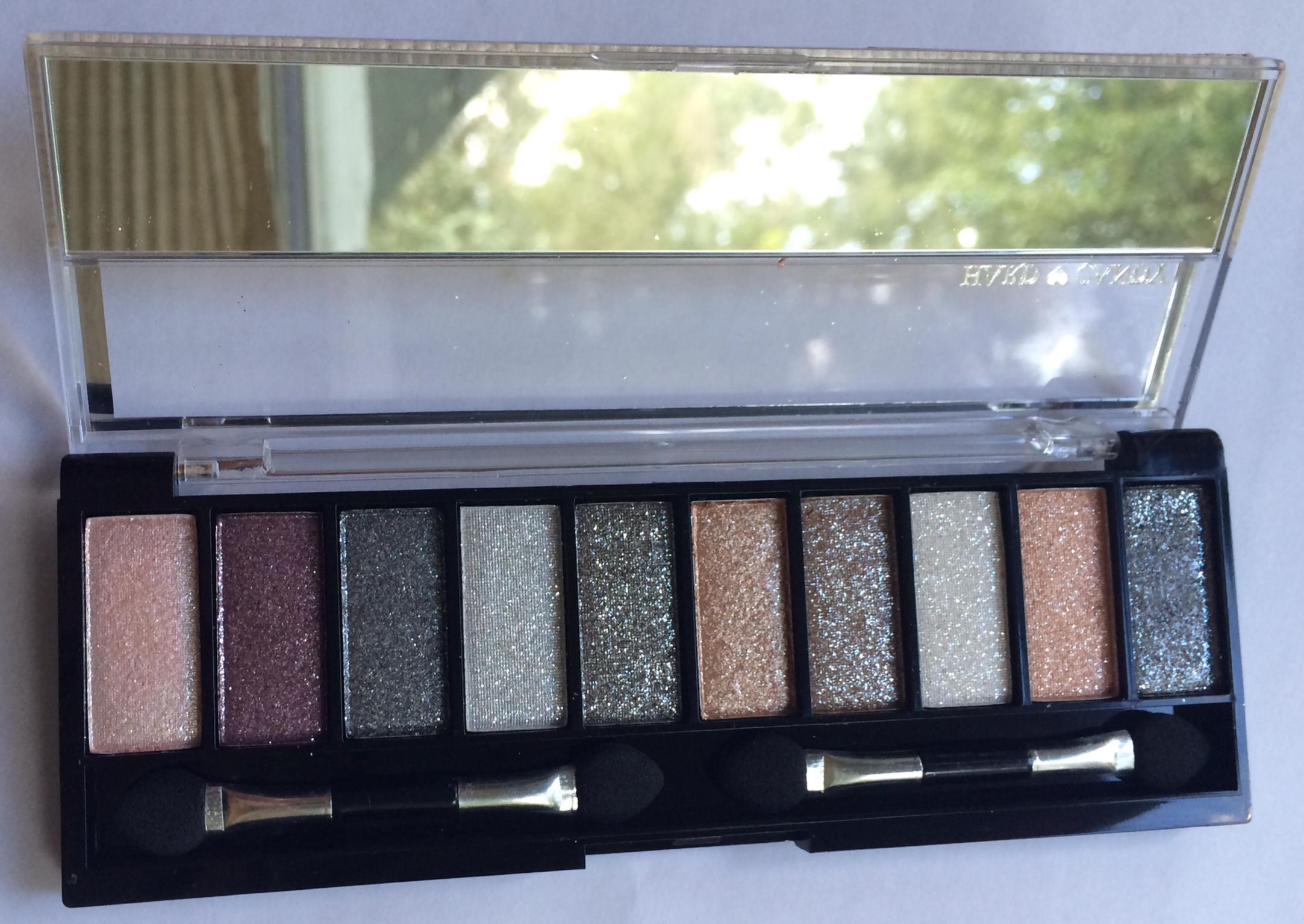New Hard Candy Ten Pan Eyeshadow Palettes Gym Bag Makeup