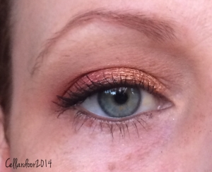 This was absolutely my favorite combination of colors from the Raining Men palette. But I'm a sucker for red and gold.