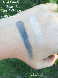 """Shade 7 - A navy blue. This can be built up and is quite nice but not a """"wow"""" color, it's a tad patchy and chalky, but again, you can work with it. Shade 8 - A cream shade"""