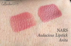 nars audacious lipstick in anita - swatch