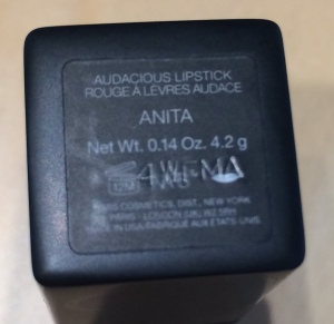 nars audacious lipstick in anita - label