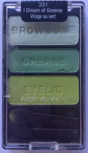 I picked up I Dream of Greenie just in case I ever needed a variety of green eyeshadow. I have no other explanation because I really don't wear much green.  The odd thing about this palette is that none of these shades really work well with the other shades in the trio. On their own they are all very pretty but I'm not sure you could create a look with them all together. Maybe I'm just not very creative.