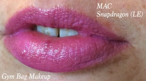 MAC Snapdragon alone. This is a limited edition shade from MAC's Fantasy of Flowers collection this last Spring or Summer. If you have this lipstick and don't want it, let me know, I will totally buy it from you or swap something for it. I love this shade.