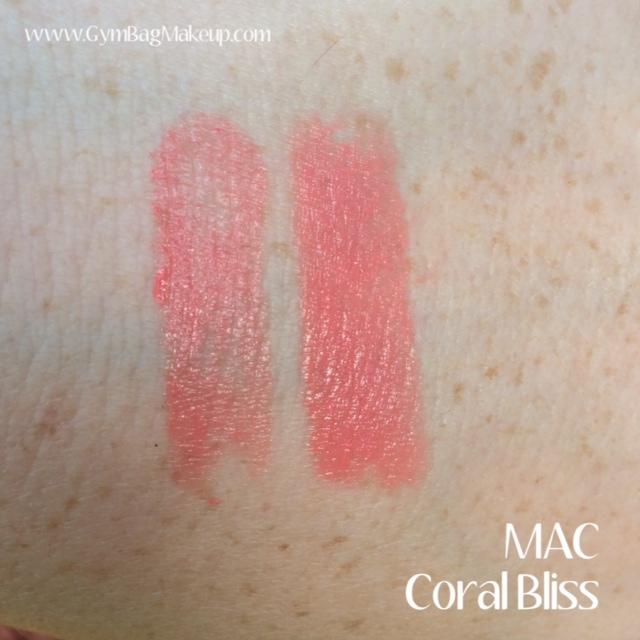 MAC Coral Bliss Lipstick | Gym Bag Makeup