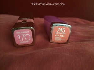 ae_loreal_color_riche_cotton_pink_maybelline_peach_poppy