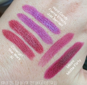 drugstore_lipstick_haul_10_2015_swatches_natural_light