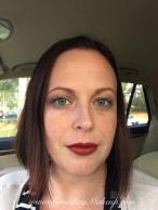 Kat Von D Thunderstruck as highlight. Nothing else on the rest of my face. MAC Viva Glam I lipstick.