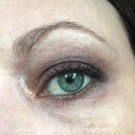 Nuance brow powder, UD Zero to tighline and in the waterline, Rollerlash mascara.