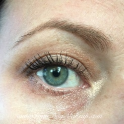 Brows: Milani Stay Put Brow Color - Medium Brown. Transition shade: MAC Uninterrupted. Liner: Annabelle Cocoloco eyeshadow pencil. Lid and inner corner: KVD Thunderstruck. Mascara: Benefit Rollerlash