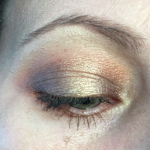 Additional things on my face: Jordana mascara, Nuance brow powder