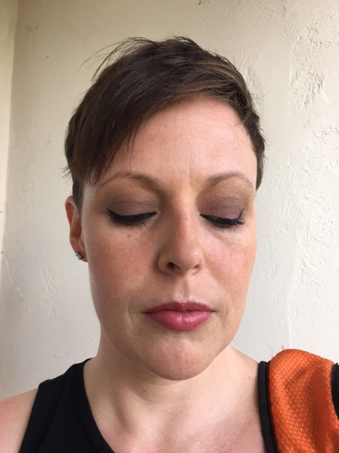 "Revlon Naked Powder. NARS ""Laguna"" bronzer, bareMinerals blush ""Beauty"". WnW ""Sunset Junction"" highlight. Laura Mercier Secret Brightening Powder. Elf tone correcting powder."