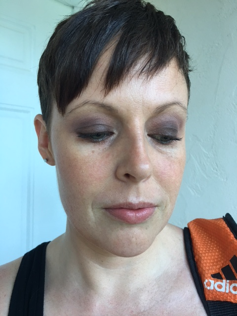 On the rest of my face: Revlon Nearly Naked powder, Nars Laguna bronzer, Nars Deep Throat blush, MAC Pearl Blossom Beauty Powder, Laura Gellar baked highlight duo in Portofino and Vanilla. Paula's Choice lip balm.
