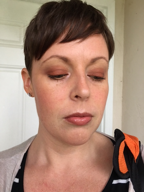 On the rest of my face: Nars Deep Throat blush, Laura Gellar Baked highlight, MAC Pearl Blossom Beauty Powder, Revlon Nearly Naked Powder, NARS Laguna bronzer. LIPS: KVD Lolita + MAC Jist + MAC So Select